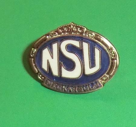NSU Pin oval, klein (ca.22x18mm)