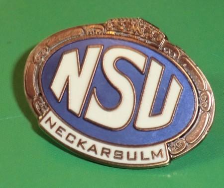 NSU Pin oval, groß (ca.35x27mm)
